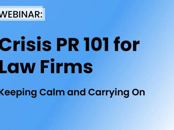 Crisis PR 101 for Law Firms